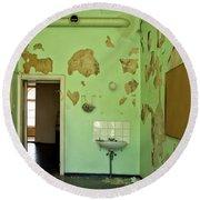 Derelict Hospital Room Round Beach Towel