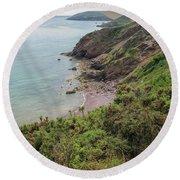 Devon Coastal View Round Beach Towel