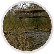 Dingleton Hill Bridge Round Beach Towel