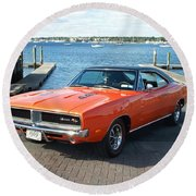 Dodge Round Beach Towel