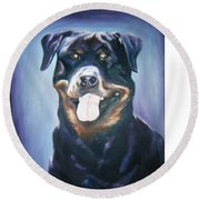 Dog Round Beach Towel