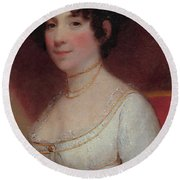 Dolley Madison Round Beach Towel by Photo Researchers