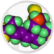 Domoic Acid Molecular Model Round Beach Towel