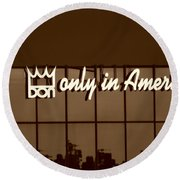 Don King Only In America Round Beach Towel