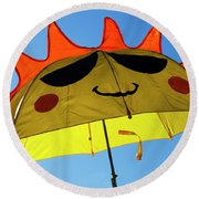 Don't Worry Be Happy Round Beach Towel