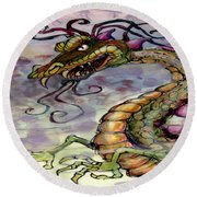 Dragon Round Beach Towel