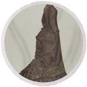 Dress Round Beach Towel