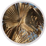 Dried Palm Fronds Round Beach Towel