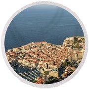 Dubrovnik And The Adriatic Coast In Croatia Round Beach Towel
