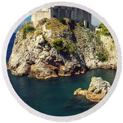 Dubrovnik King's Landing Fortress Round Beach Towel