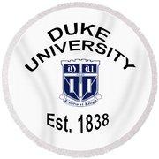 Duke University Est 1838 Round Beach Towel