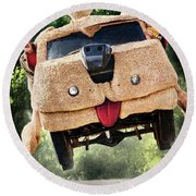 Dumb And Dumber To 2014  Round Beach Towel