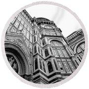 Duomo De Florencia Round Beach Towel