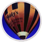 Early Morning Balloon Ride Round Beach Towel