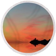 Early Morning Clouds Two  Round Beach Towel