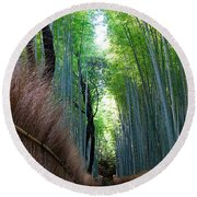 Earth Moments Gallery I Round Beach Towel