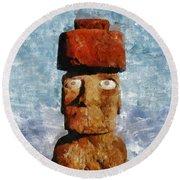 Easter Island Round Beach Towel