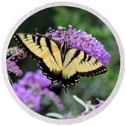 Eastern Tiger Swallowtail Butterfly 2015 Round Beach Towel