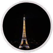 Eiffel Tour Paris Round Beach Towel