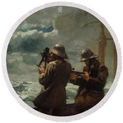 Eight Bells Round Beach Towel by Winslow Homer