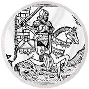 El Cid Campeador (c1040-1099) Round Beach Towel