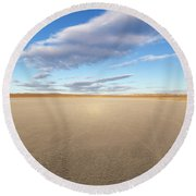 El Mirage Dry Lake Mojave  Round Beach Towel