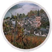 Elevated View Of Bacharach Round Beach Towel