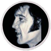 Elvis Presley  The King Round Beach Towel
