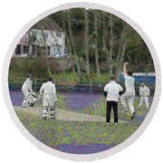 England Club Cricket Round Beach Towel