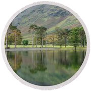 England, Cumbria, Lake District National Park Round Beach Towel