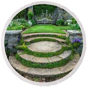 English Garden Round Beach Towel