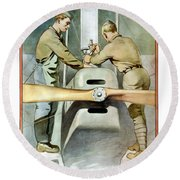 Mechanical Training - Enlist In The Air Service Round Beach Towel