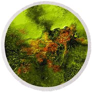 eruption II Round Beach Towel