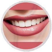 Esthetics Of Smile  Dental Veneers Vs Orthodontic Treatment Round Beach Towel