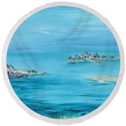 Ethereal Round Beach Towel