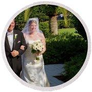 Etzel Mcdougal Wedding Round Beach Towel