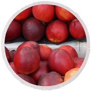 European Markets - Nectarines Round Beach Towel