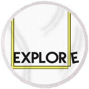 Explore Round Beach Towel