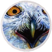 Eyes Of Owls No. 15 Round Beach Towel