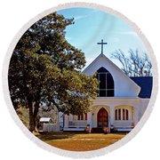 Fairhope Sacred Heart Church Round Beach Towel