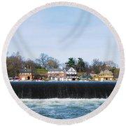 Fairmount Dam - Boathouse Row Round Beach Towel