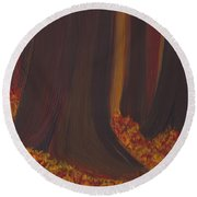 Fall Forest Floor By Jrr Round Beach Towel