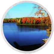 Fall In Northern Wisconsin Round Beach Towel