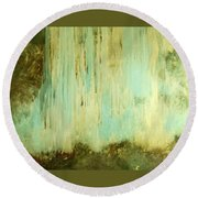 Falling Water Series Round Beach Towel