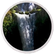 Falls Creek Falls Round Beach Towel