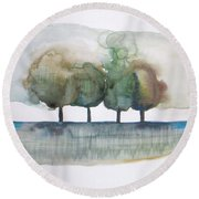 Family Trees Round Beach Towel
