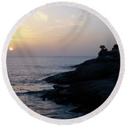 Fanabe Evening 2 Round Beach Towel