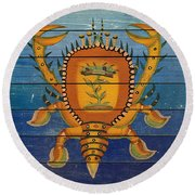 Fanciful Sea Creatures-jp3823 Round Beach Towel