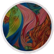 Far Away Eyes Round Beach Towel