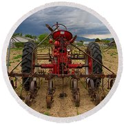 Farmall Tractor Round Beach Towel